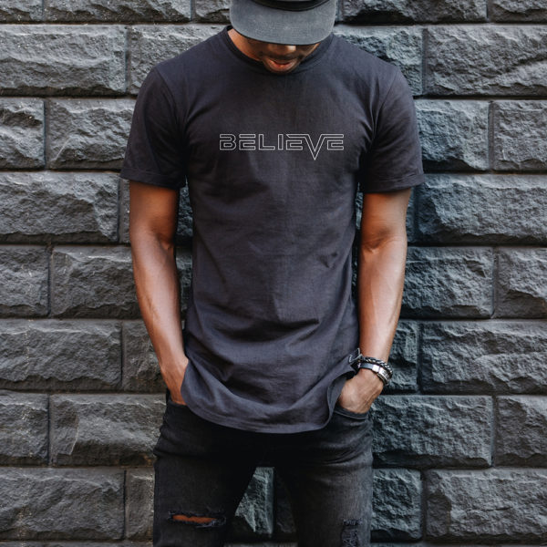 believe outline tee